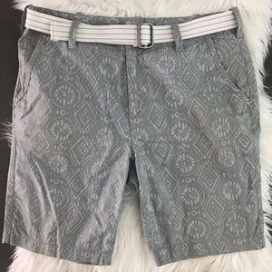 Express tribal print Shorts/ with removable belt